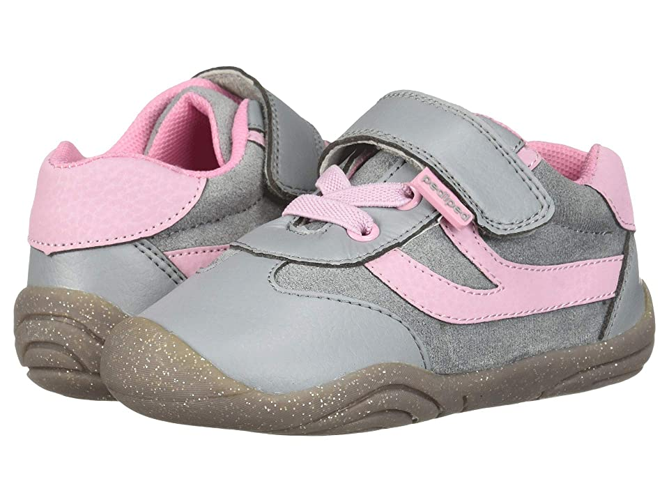 pediped Cliff Grip n Go (Toddler) (Grey/Pink) Girl