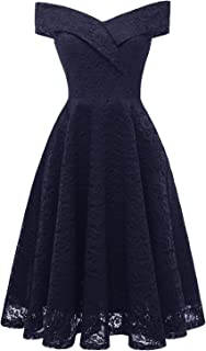 Sunvary Women's Popular Bridesmaid Prom Dresses Off The Shoulder A-line Waist Cocktail Gown