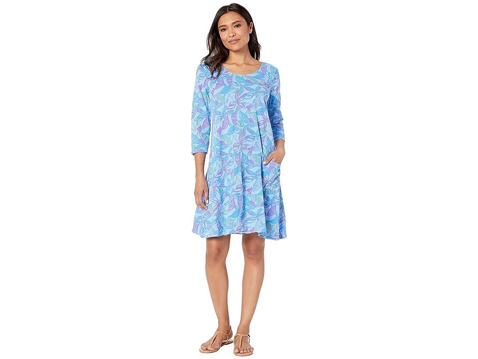 Fresh Produce Beachside Blooms Dalia Dress (Bayside Blue) Women