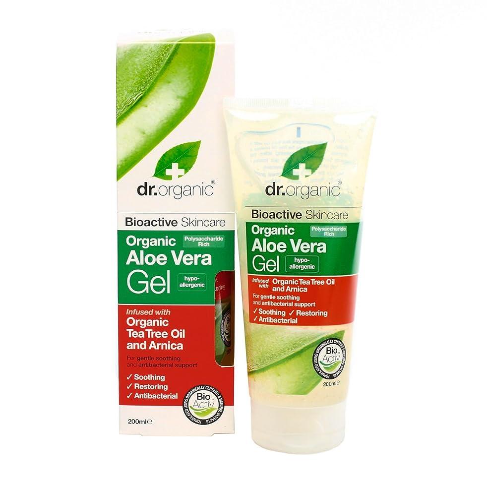売る救出城Dr.organic Organic Aloe Vera Gel With Organic Tea Tree Oil And Arnica 200ml [並行輸入品]