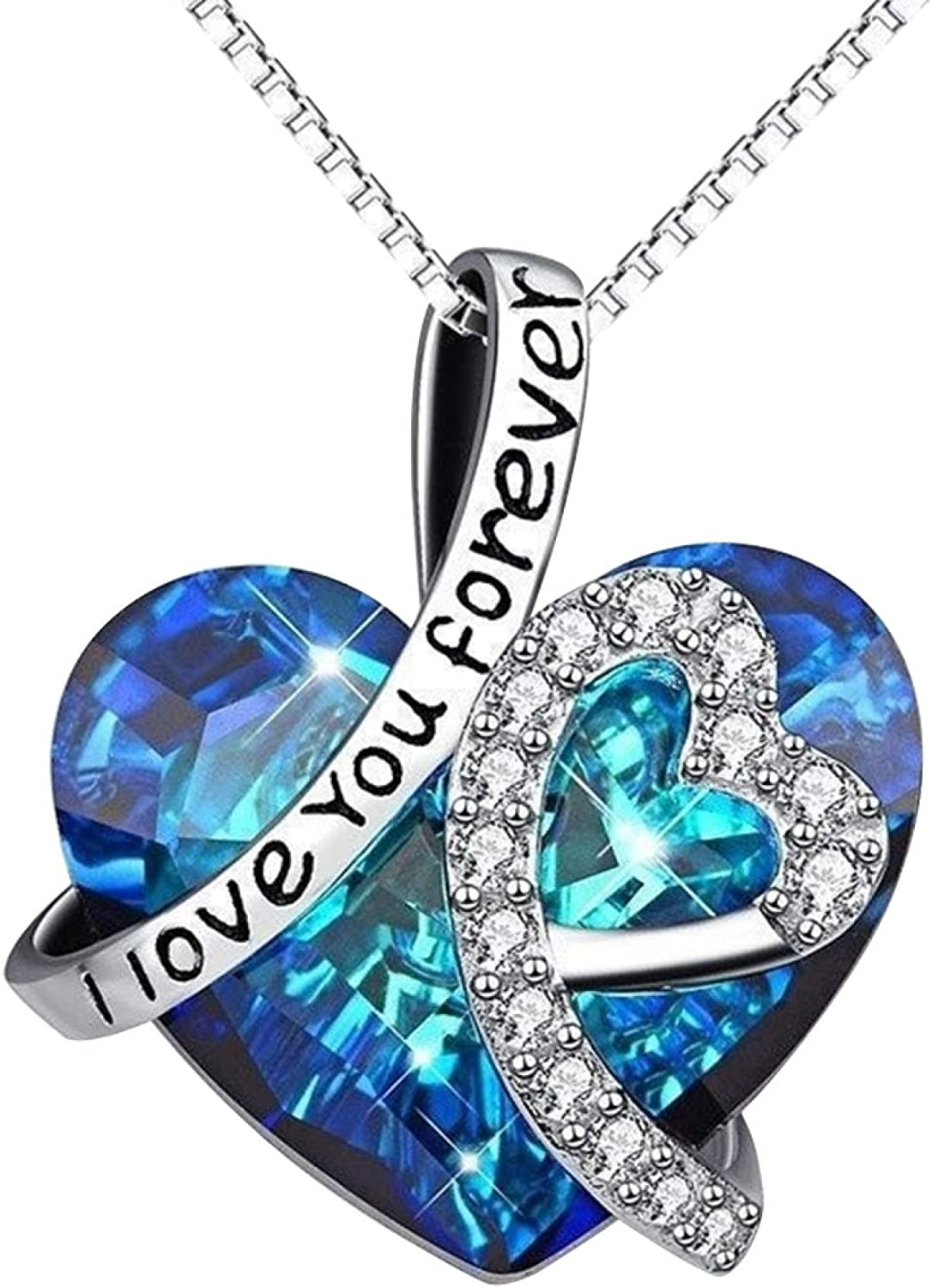 Lady Fashion Love Heart Pendant 1 year warranty It is very popular Clavicle Necklace Rhinestone Cha