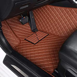CNANOO Impermeables Custom Fit Luxury XPE Leather Car Floor Mats All Weather 3D Full Rounded Front Rear Car Floor Liners para Mercedes Benz S Class S280 S300 S320 S400 S500 S550 2000-2005, marrón