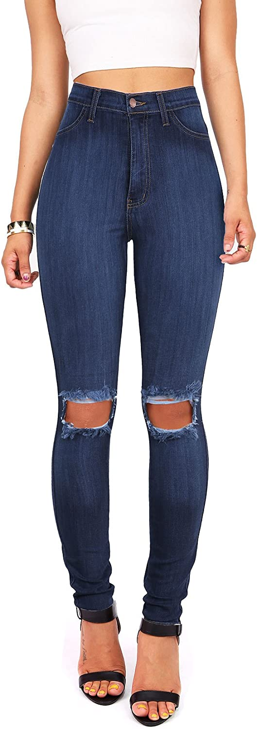 Vibrant Outstanding Women's Juniors Faded Ripped Knee Max 75% OFF Jean High Skinny Waist