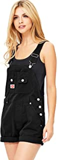 Women's Juniors Classic Twill Short Overalls