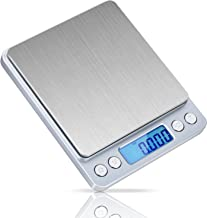 ID IDAODAN 0.001oz/0.01g 1.1lb/500g Digital Jewellery Weed Pocket Scales with Back-lit LCD Display Silver