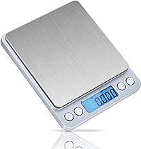ID IDAODAN 0.001oz/0.01g 1.1lb/500g Digital Jewellery Weed Pocket Scales with Back-lit LCD Display Silver