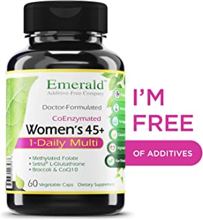 Women's 45+ 1-Daily Multi - Multivitamin with CoQ10, Vitamin K2 (MK-7) & Extra Calcium - Supports Healthy Heart, Strong Bones, Balanced Hormones, & More - Emerald Laboratories - 60 Vegetable Capsules