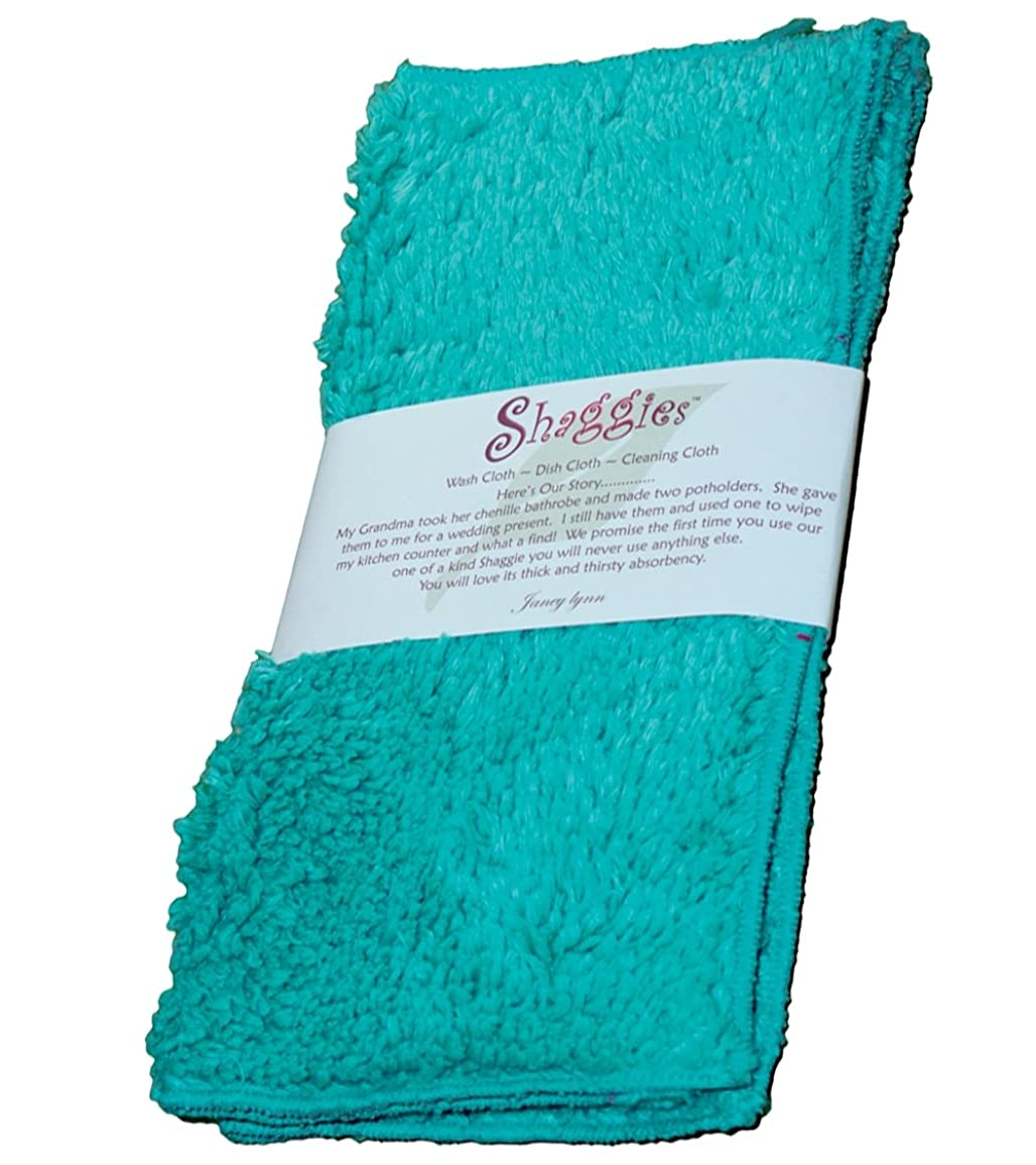 格納変色する安西Tease MeターコイズShaggies Chenille Multi Purpose Washcloth