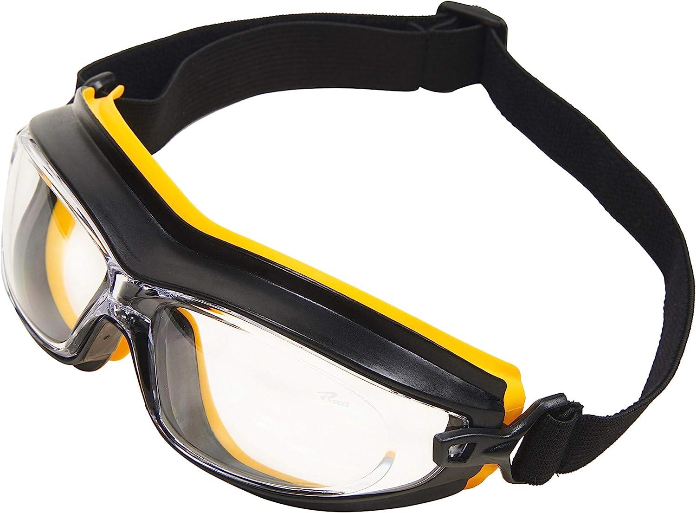 ENJOHOS Gafas de trabajo de seguridad industrial Gafas deportivas de protección ocular con lentes transparentes antideslizantes resistentes a los arañazos y lentes antideslizantes