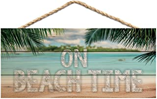 P. Graham Dunn On Beach Time Printed 10 x 4.5 Wood Wall Hanging Plaque Sign