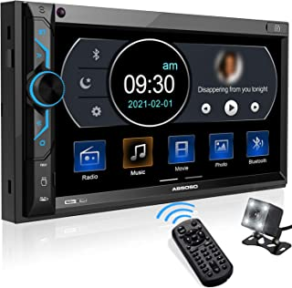$71 » ABSOSO in-Dash Digital Media Car Stereo- Double Din 7 Inch HD Touchscreen Monitor, Bluetooth Audio /Hands-Free Calling, Ph...