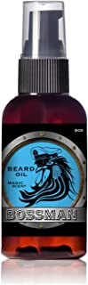Bossman Brands Beard Oil 2oz All Natural Oils with Essential Oil Scent