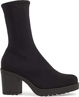 Grace Black Stretch Sock Mid-Calf Boots US9.5 EU41 UK8
