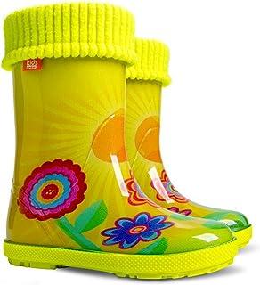 3a48be40fe56a3 Stivali da pioggia per bambini, con fodera in pile