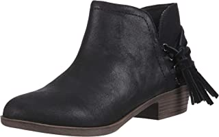 Rampage Womens CT2809 Tiaan Womens Side Cut Out Ankle Bootie with Decorative Side Tassle