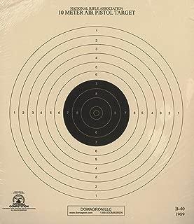 DOMAGRON 10 Meter (33 Ft.) Air Pistol Single Bullseye Official NRA Target - B-40/1 (100-Pack)
