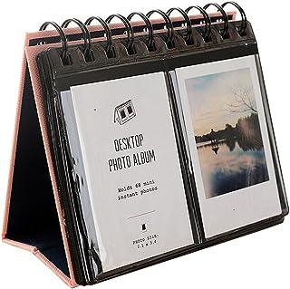 Urvoix 68Álbum de fotos para escritorio tamaño mini para películas de Fujifilm Instax Mini 87s 2550s 90tarjeta de visita color rosa
