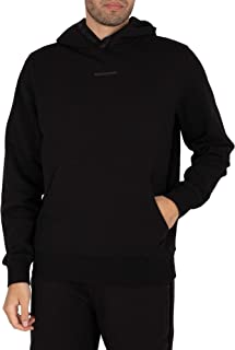 Calvin Klein Jeans Men's Logo Jacquard Pullover Hoodie, Black, XXL