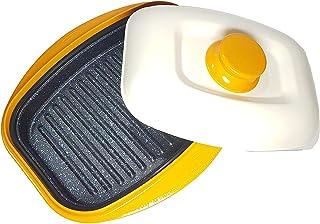 Range Mate - Sartén antiadherente para horno microondas, producto mejorado, horno microondas para filetes, salmón, chuleta de cerdo, albóndigas, platos de pescado, huevos