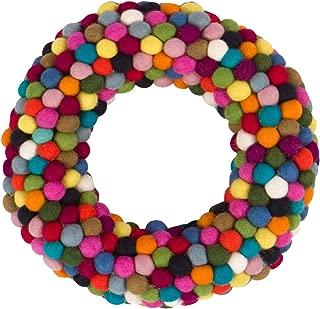 Best rainbow pom pom wreath Reviews