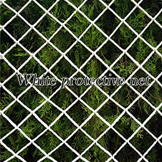 NszzJixo9 Protective Netting - Guard Rail Netting Per Metre No Waste 50mm Diamond Mesh White Boat Handrail for Staircase, Site Protection, Ceiling