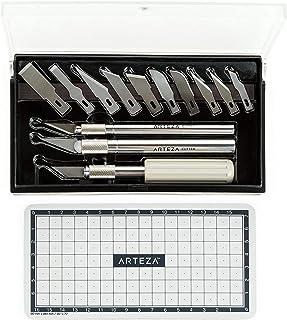 Arteza Ensemble Cutter/Couteau de Précision Pour Travail d'art, Modélisme, Kirigami, Scrapbooking, Sculpture, Bricolage (k...