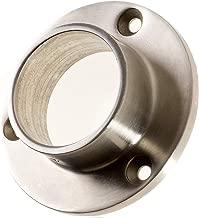 Di/ámetro de la placa: 84,5 mm Brida de pared y suelo para tubo redondo de 42,4 mm 1 pieza. Conector de pared de acero inoxidable V2A lijado