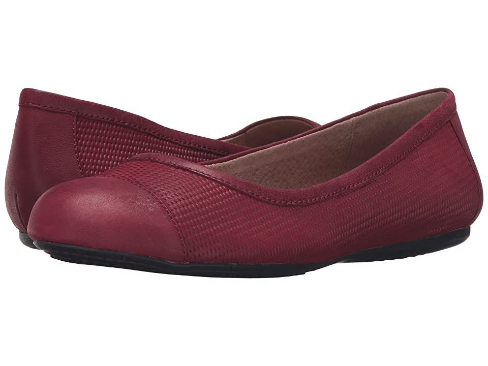SoftWalk Napa (Red Nubuck Embossed Leather/Leather) Women