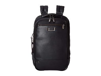 Briggs & Riley @Work Leather Medium Backpack (Black) Backpack Bags