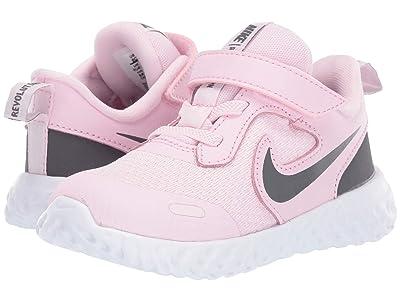 Nike Kids Revolution 5 (Infant/Toddler) (Pink Foam/Dark Grey) Girls Shoes