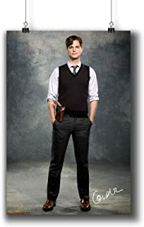 Pentagonwork Criminal Minds TV Photo Poster Prints 271-006 Dr.Spencer Reid Matthew Gray Gubler Reprint Signed Casts,Wall Art Decor Gift (A4|8x12inch|21x29cm)