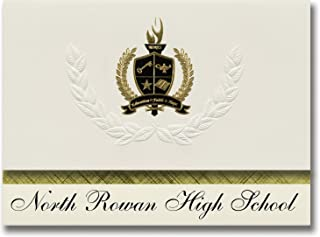 Signature Announcements North Rowan High School (Spencer, NC) Graduation Announcements, Presidential style, Elite package ...