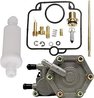 SaferCCTV Carburetor Carb Repair Rebuild Kit & 2520227,3085275 Fuel Pump and Polaris Small Inline Fuel Filter 2530009 for 2001 2002 Polaris Sportsman 500 HO ATV