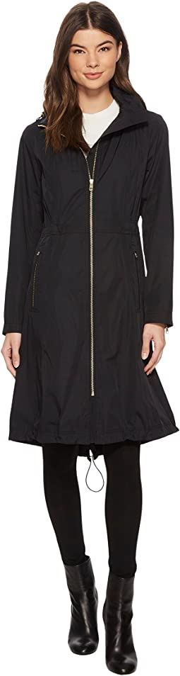 Cole Haan Double Face Rain Parka with Detachable Hood