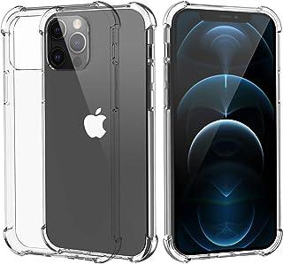 Migeec Funda Compatibilidad iPhone 12 Pro MAX Suave TPU Gel Carcasa Anti-Choques Anti-Arañazos Protección a Bordes y Cámar...