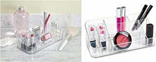InterDesign Clarity Cosmetic Organizer for Vanity Cabinet to Hold Makeup, Beauty Products, Lipstick - Clear