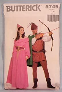 Butterick 5749 Maid Marian, Robin Hood Costumes Sewing Pattern, Vintage 1985