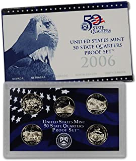2006 S U.S. Mint Proof State Quarter Set - 5 Coins - OGP Original Government Packaging Superb Gem Uncirculated