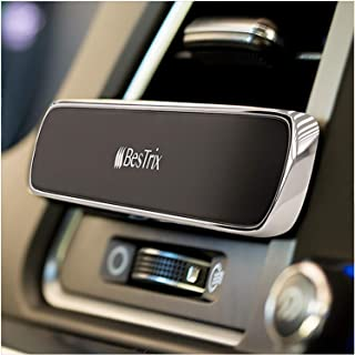 Bestrix Magnetic Phone Car Holder Air Vent | Super Strong Magnet Car Cell Phone Mount - Luxury Design Fits All Smartphones - iPhone 11/11 Pro/Xs/XS Max / 8/7 / 6, Google Pixel, Samsung Galaxy & More