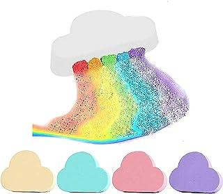 DIIIBARLORY Rainbow Bath Bomb, Bathing Salt Rainbow Soap Ball, Exfoliating Moisturizing Bubble Bath Bombs Ball, Rainbow Cl...