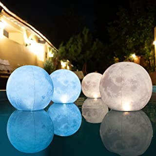 TIALLY Solar Floating Pool Lights - Pack of 4 Floating Pool Lights Solar Powered, Inflatable, Waterproof and Wind Resistan...