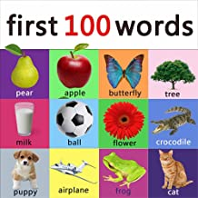First 100 words - learning book for kids, toddlers and young children. (ABC & 123 Learning Books 2)