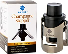 FIZZ KEEPER Champagne Stopper – Superior Leak-Proof Bubble Retaining Pressure Pump – Open Without Worry & Drink for Years w/Bottle Sealer Cork for Prosecco, Cava & Sparkling Wine – Stainless Steel