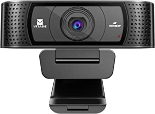 HD Webcam 1080P with Microphone & Cover Slide, Vitade 928A Pro USB Computer Web Camera Video Cam for Streaming Gaming Conf...