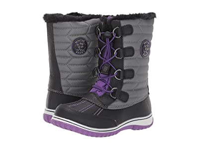 Tundra Boots Kids Alps (Little Kid/Big Kid) (Black/Purple) Girls Shoes