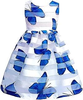 Surprise S Summer Girls Print Lace Dress Big Girl Clothes Kids Dresses for Girls Girls Birthday Soft Wear