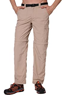TRAILSIDE SUPPLY CO. Mens Convertible Cargo Hiking Pants Lightweight, Water-Resistant, Ripstop