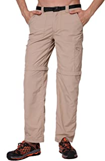 Trailside Supply Co. Men's Quick-Dry Convertible Nylon Trail Pants with Zip-Off Short