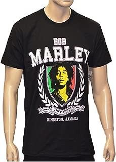 Bob Marley Men's Tuff Gong Tri-Color Rasta T-Shirt in Black Sizes: S-XXL