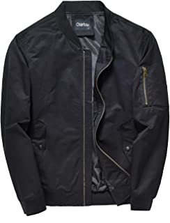 Chartou Men's Mid-Weight Flight Air Force Bomber Letterman Jacket Tactical Outwear